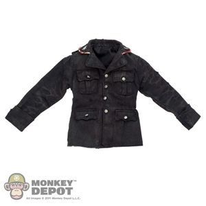 Tunic: DamToys Bloodied/Weathered Waffen-SS Black Wool Tunic