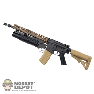 "Rifle: DAM Toys M4 w/12"" RISII & M203 Grenade Launcher"