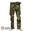 Pants: DamToys Woodland Camouflage w/Belt