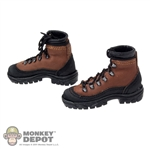 Boots: DamToys Brown Hiking Boots