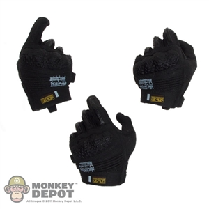Hands: DamToys Black Gloved Hand Set
