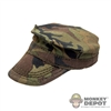 Hat: DamToys Woodland Camo USMC Fatigue Cap (Weathered)