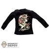 Shirt: DamToys Black Long Sleeve Dragon T-Shirt
