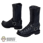 Boots: DamToys Black Alligator Boots (no ankle pegs)