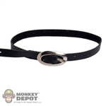 Belt: DamToys Black Belt w/Silver Buckle