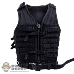 Vest: DamToys Black Tactical Vest w/Belt