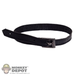 Belt: DamToys Black Leatherlike Belt w/Square Buckle