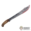 Knife: DamToys Bloodied Clip Point Machete