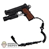 Pistol: DamToys 1911 TAC Pistol w/Flashlight & Lanyard