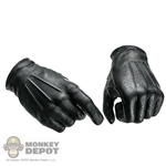 Hands: DamToys Black Molded Gloved Hands (No wrist pegs)
