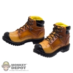 Boots: DamToys Brown Molded Boots (No Ankle Pegs)