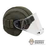 Helmet: DamToys Green Russian Helmet w/Clear Visor
