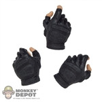 Hands: DamToys Black Fingerless Tactical Gloved Hands