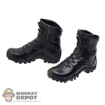 Boots: DamToys Black Molded Bates Tactical Boots (No ankle pegs)