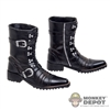 Boots: DamToys Black Cowboy Style Molded Boots w/Ankle Pegs