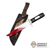 Knife: DamToys Bloody Dagger w/Snake Skin Sheath
