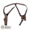 Harness: DamToys Brown Leatherlike Shoulder Harness w/Pistol Mags