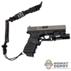 Pistol: DamToys 9mm G w/X300 Flash Light w/Switch & Lanyard