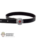 Belt: DamToys Female Black Leather Belt
