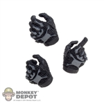 Hands: DamToys Black/Grey Tactical Gloved Hands