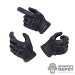 Hands: DamToys Female Black Molded Tactical Hand Set