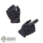 Hands: DamToys Female Black Molded Tactical Hands