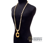 Chain: DamToys Gold Diamond Chain w/C Pendant