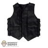 Vest: Double Play Black Leather Vest