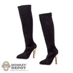 Boots: Dreamer Black Knee High Boots w/Zippers