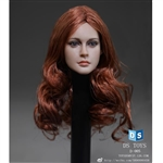 Head: DS Toys Female Head with Long Curly Red Hair (DS-D005)