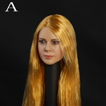 Head: DS Toys Female Head with Long Blonde Hair (DS-D003A)
