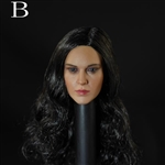 Head: DS Toys Female Head with Long Dark Hair (DS-D004A)