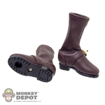 Boots: EnToys Brown Leather Boots (Ankle Peg Included)