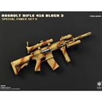 Rifle Set: Easy & Simple HK416 Assault Rifle Set Tora Bora (06008E)