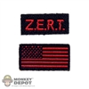 Insignia: Easy & Simple Red Zert & American Flag Patch Set