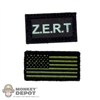Insignia: Easy & Simple Green Zert & American Flag Patch Set