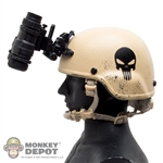 Helmet: Easy & Simple MICH200 w/PVS-15 NVG & Punisher Skull