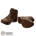 Boots: Easy & Simple Brown Molded Tactical Boots