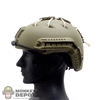 Helmet: Easy & Simple Base Jump Carbon Helmet w/Bungees