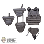 Vest: Easy & Simple Grey Wolf Vest w/ Shoulder Pads, Neck Guard & Groin Plate