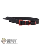 Belt: Easy & Simple Black Riggers Belt w/Red Buckle