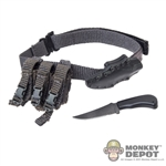 Belt: Easy & Simple Duty Belt w/Knife, Sheath & Pouch