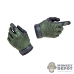 Hands: Easy & Simple Black & Green Molded Mechanix Gloves