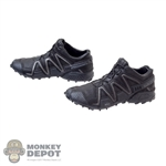 Boots: Easy & Simple Black Molded Salomon Shoes
