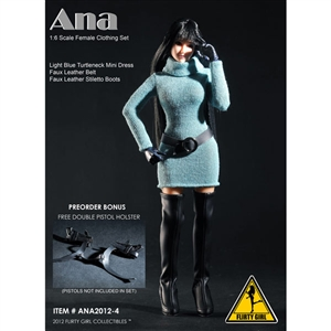 Uniform Set: Flirty Girl Ana Female Clothing Set - Blue