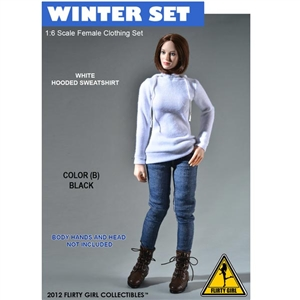 Uniform Set: Flirty Girl Winter Clothing Set Black