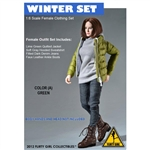 Uniform Set: Flirty Girl Winter Clothing Set Green