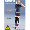 Uniform Set: Flirty Girl Denium Clothing Set Blue