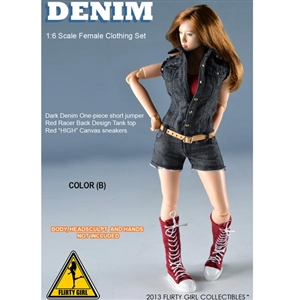 Uniform Set: Flirty Girl Denium Clothing Set Black