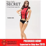 Clothing Set: Flirty Girl Tuxedo Lingerie w/Head In Red (FG-2015-16)